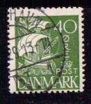 Sellos de Europa - Dinamarca -  Serie básica. Barco
