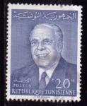 Sellos de Africa - Túnez -  Presidente Bourguiba