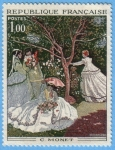 Stamps : Europe : France :  C. Monet