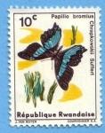 Sellos de Africa - Rwanda -  Papilo Bromius