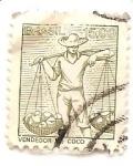 Stamps Brazil -  Vendedor de coco