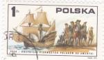 Stamps Poland -  1608  llegada de los polacos a América