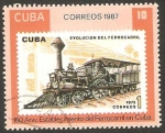Stamps Cuba -  150 anivº del establecimiento del Ferrocarril en Cuba