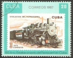 Sellos de America - Cuba -  150 anivº del establecimiento del Ferrocarril en Cuba