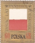 Stamps Poland -  bandera con relieve