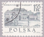 Stamps : Europe : Poland :  Varsovia, teatro  Narodowi