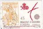 Stamps Andorra -  carta del descubriment de Basilea 1484