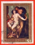 Stamps Hungary -  Luca Giorano: Venusz, Adonisz es amor