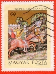Stamps : Europe : Hungary :  Képes Kronika 1370