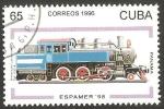 Stamps Cuba -  Locomotora de Panamá