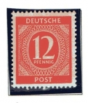 Stamps : Europe : Germany :  Cifras