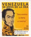 Sellos de America - Venezuela -  50 años de la OEA