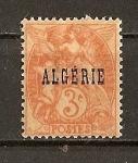 Sellos del Mundo : Europa : Argelia : Algeria - Departamentos Franceses./Papel amarillento.