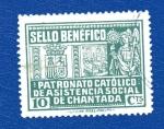 Sellos de Europa - España -  sobretasa - Chantada (Lugo)