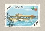 Stamps Laos -  Hidroavión