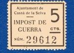 Sellos de Europa - España -  sobretasa - Cassá de la Selva / impuesto de guerra