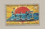 Sellos de Africa - Guinea Ecuatorial -  100 aniv. ferrocarriles japoneses