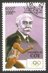 Stamps : Asia : Laos :  Centº del C.O.I., Pierre de Coubertin