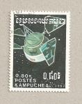 Sellos de Asia - Camboya -  Satélites espaciales