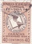 Sellos de America - Venezuela -  universidad central de Venezuela