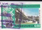 Sellos de America - Venezuela -  Paga tus impuestos-Más vías de comunicación