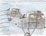 Stamps Portugal -  75  años de la aviación militar