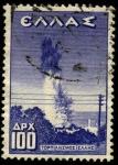 Sellos de Europa - Grecia -  Hundimiento del crucero griego Helle. 1940.