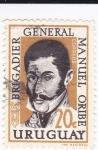 Stamps Uruguay -  Brigadier general Manuel Oribe