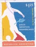 Sellos de America - Argentina -  juegos panamericanos-Mar del Plata-95