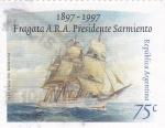 Sellos de America - Argentina -  Fragata Presidente Sarmientos