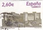 Stamps Spain -  castillo de Maqueda-Toledo