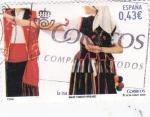 Stamps Spain -  bailes y danzas populares