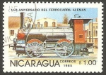 Stamps Nicaragua -  150 anivº del ferrocarril alemán