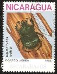 Stamps : America : Nicaragua :  escarabajo caratotrupes bolivari