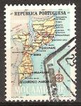 Sellos de Africa - Mozambique -  Mapa de Mozambique.