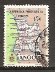 Sellos del Mundo : Africa : Angola : Mapa de Angola.
