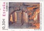 Sellos de Europa - España -  termas romanas de Campo Valdés-Gijón