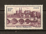 Stamps France -  Lugares Diversos.