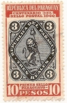 Stamps America - Paraguay -  Centenario del primer sello postal del Paraguay