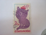 Sellos del Mundo : Europa : Checoslovaquia : gato