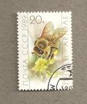 Stamps Russia -  Recolección del polen por las obreras