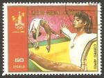 Stamps Equatorial Guinea -  Olimpiadas Moscu 80, gimnasta Nadia Komanechi