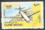 Sellos de Africa - Guinea Bissau -  Avión Caravelle