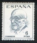 Sellos de Europa - España -  1760-  Literatos españoles. Centenario de su nacimiento. Jacinto Benavente ( 1866- 1954 ).