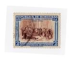 sellos de America - Honduras -  V Cº nacimiento Isabel La Católica