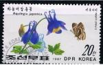 Sellos del Mundo : Asia : Corea_del_norte : Aquilegia japonica