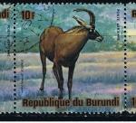 Sellos de Africa - Burundi -  Hippotragus equinus