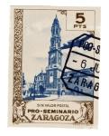 Stamps : Europe : Spain :  Viñeta - Zaragoza (Pro Seminario)