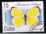 Stamps Cuba -  Mariposas cubanas.  Eurema duna