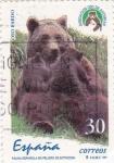 Stamps Spain -  fauna española en peligro de extinción-0so pardo